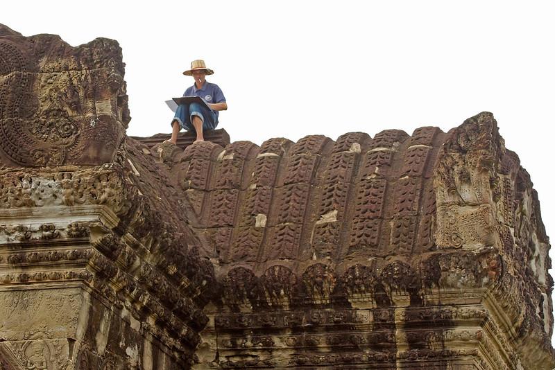 Restoration architect, Ankor Wat, Cambodia