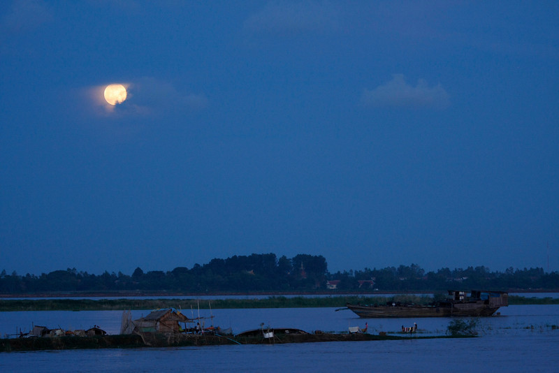 Moonlight on the Tonle Sap, Cambodia