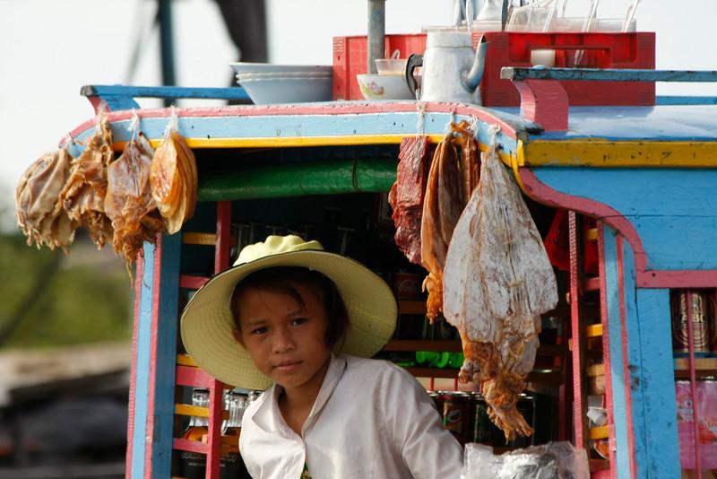Floating village market, Tonle Sap, Cambodia