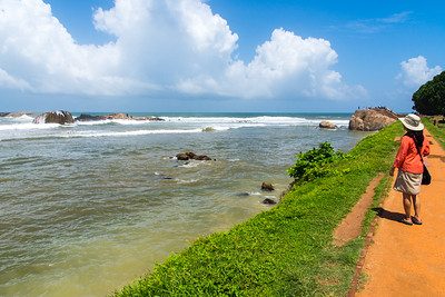The waters off Fort Galle