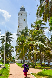 Dondra Head Lighthouse at the southern tip of Sri Lanka.