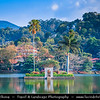 Asia - Sri Lanka - Ceylon - The Pearl of the Indian Ocean - Emerald Isle - Island with tropical forests & diverse landscapes with high biodiversity - Kandy -  Home of The Temple of the Tooth Relic - Sri Dalada Maligawa - One of the most sacred places of worship in the Buddhist world - UNESCO World Heritage Site