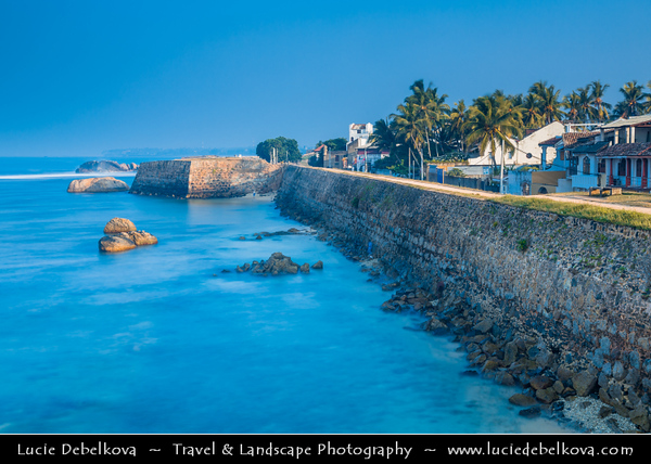 Asia - Sri Lanka - Ceylon - The Pearl of the Indian Ocean - Emerald Isle - Southern Province - Galle - UNESCO World Heritage Site - Fortified city built by Europeans in South and South-East Asia, showing the interaction between European architectural styles and South Asian traditions