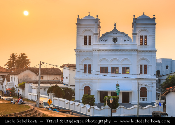 Asia - Sri Lanka - Ceylon - The Pearl of the Indian Ocean - Emerald Isle - Southern Province - Galle - UNESCO World Heritage Site - Fortified city built by Europeans in South and South-East Asia, showing the interaction between European architectural styles and South Asian traditions - Sunset
