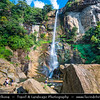 Asia - Sri Lanka - Ceylon - The Pearl of the Indian Ocean - Emerald Isle - Island with tropical forests & diverse landscapes with high biodiversity - Kandy District - Nuwara Eliya Area - Ramboda Falls - Stunning waterfalls