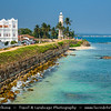 Asia - Sri Lanka - Ceylon - The Pearl of the Indian Ocean - Emerald Isle - Southern Province - Galle - UNESCO World Heritage Site - Fortified city built by Europeans in South and South-East Asia, showing the interaction between European architectural styles and South Asian traditions - Galle Lighthouse - Pointe de Galle Light