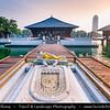 Asia - Sri Lanka - Ceylon - The Pearl of the Indian Ocean - Emerald Isle - Colombo - Seema Malaka - Buddhist temple on Beira Lake - One of the great land marks of Colombo