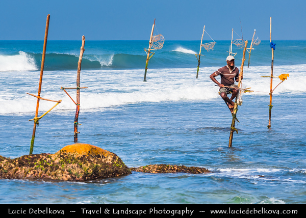 Asia - Sri Lanka - Ceylon - The Pearl of the Indian Ocean - Emerald Isle - Southern Province - Weligama - Fishing town on southern coast along the Indian Ocean - Taprobane Island