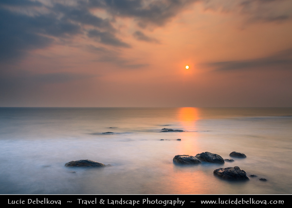 Asia - Sri Lanka - Ceylon - The Pearl of the Indian Ocean - Emerald Isle - Southern Province - Galle - UNESCO World Heritage Site - Fortified city built by Europeans in South and South-East Asia - Sunset on the beach