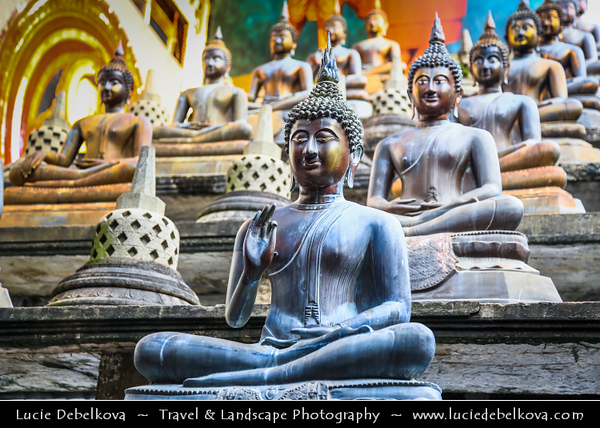 Asia - Sri Lanka - Ceylon - The Pearl of the Indian Ocean - Emerald Isle - Colombo - Gangaramaya Temple - One of the most important temples in the capital & one of the great land marks of Colombo