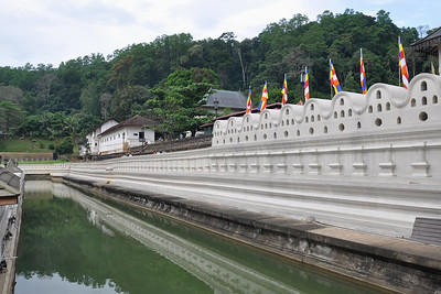 Kandy - Left Temple Moat