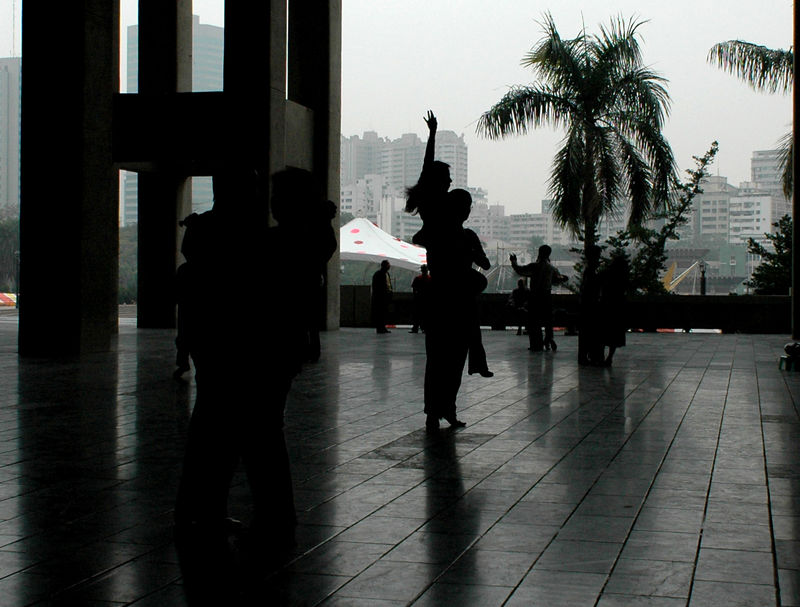 Dancing on Sunday Morning in the Kaohsiung cultural center