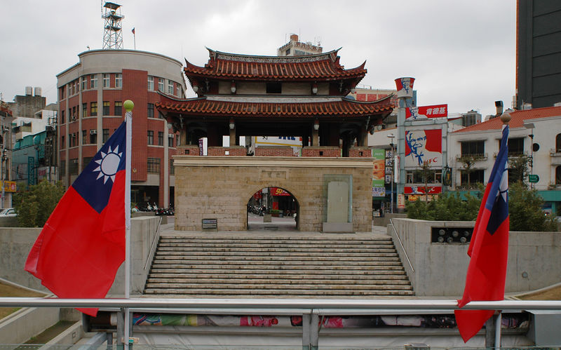 The historic East Gate in Hsinchu.