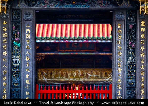Asia - Taiwan - Republic of China (ROC) - Taipei City - 臺北市 - 台北市 - Capital City - Mengjia Longshan Temple - 艋舺龍山寺 - Place of worship and a gathering place for the Chinese settlers - Buddhist temple