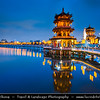 Asia - Taiwan - Republic of China (ROC) - Kaohsiung - 高雄 - City located in southwestern Taiwan facing the Taiwan Strait - Lianchihtan - Lotus Pond - Area of temples like Confucius Temple, Spring Autumn Pavilion & Dragon & Tiger Tower
