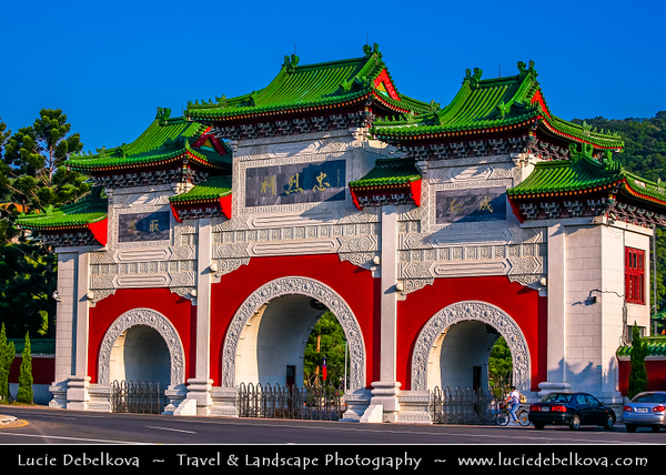 Asia - Taiwan - Republic of China (ROC) - Taipei City - 臺北市 - 台北市 - Capital City - Grand Hotel Taipei - Landmakr building with elements of classic Chinese architecture