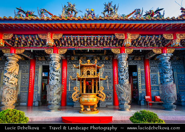 Asia - Taiwan - Republic of China (ROC) - Taipei City - 臺北市 - 台北市 - Capital City - Buddhist Temple in the nearby Hills