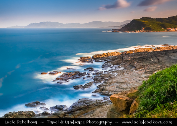 """Asia - Taiwan - Republic of China (ROC) - Rocky Shores of Bitou Cape - Marking where the Pacific Ocean and East Sea meets, Bitou Cape is one of """"The Three Capes in Taiwan"""" (other two are Sandiao Cape and Fuguei Cape)"""