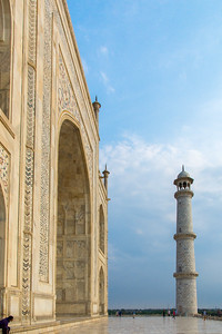 Another view of the Taj Mahal's northeast corner.