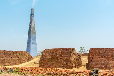 Brick kiln along the highway from Jaipur to Jodhpur