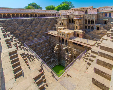 Chand Baori, a step well in the village of Abhaneri near Bandikui, Rajasthan