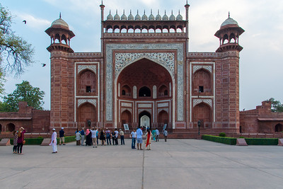 Entrance to the Taj Mahal.