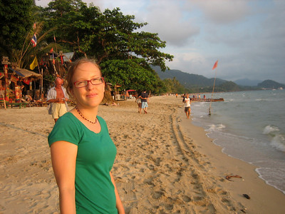 Steph on White Sands beach, Ko Chang