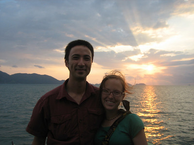 Sunset on the ferry to Ko Chang