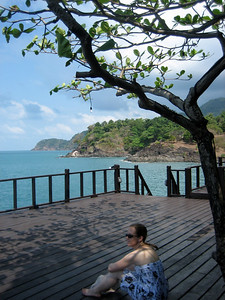 Secluded sun deck in Bang Bao, Ko Chang