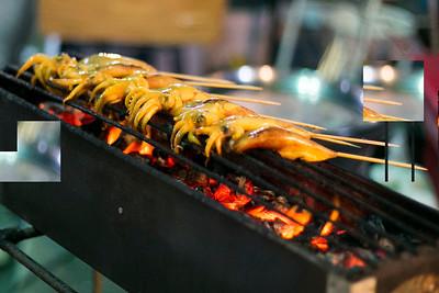 Grilled squid in Thailand