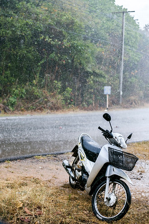Pouring rain in Thailand