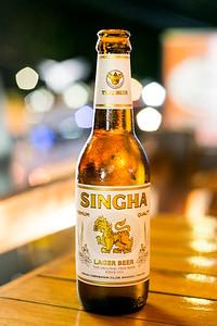Singha Beer in Thailand