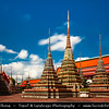 Thailand - Bangkok - Wat Pho - Temple of the Reclining Buddha - Wat Phra Chetuphon - One of the largest temple complexes in the city famed for its giant reclining Buddha that measures 46 metres long and is covered in gold leaf