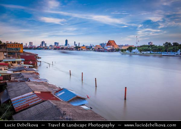 Thailand - Bangkok - Historical Cityscape along Chao Phraya River
