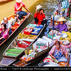 Thailand - Bangkok - Floating Market Dumnoen Saduak - Damnern Saduak - Canal dug in the reign of King Rama IV to connect the Taachin River and Maeklong River -