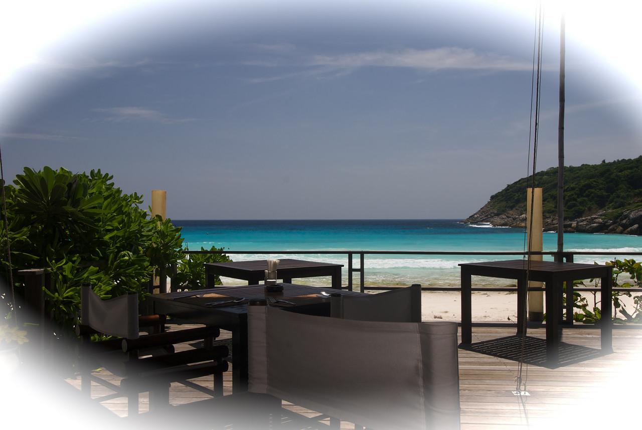 Restaurant at on the Beach at Racha
