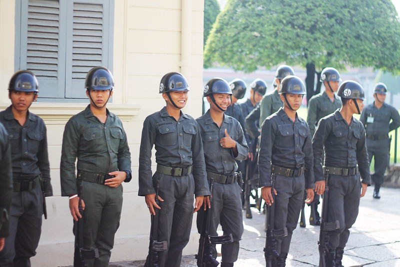 Military around the Grand Palace. October 2014
