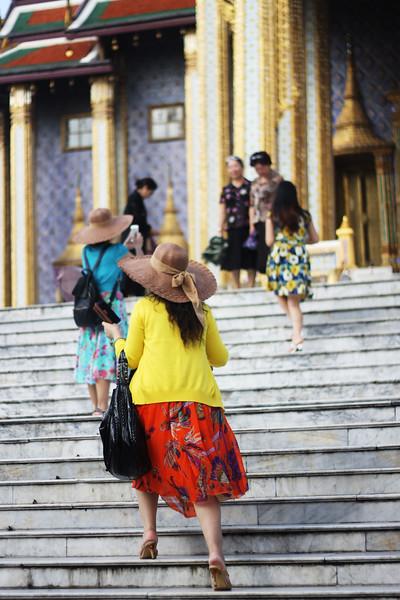 Grand Palace tourists. October 2014