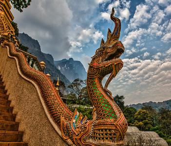 Naga at Monastery,  Chiang Dao