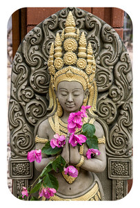 Goddess with Bougainvillia,  Chiang Dao