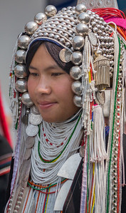 Akha Woman III, Flower Festival