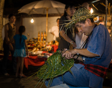 Hat Weaver at Sunday Evening Market