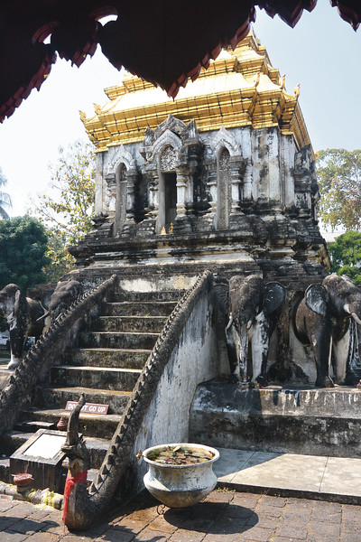 Wat Chiang Man. One of the 300 buddhist temples around Chiang Mai. February 2016