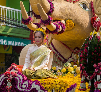 Elephant Float, Flower Festival
