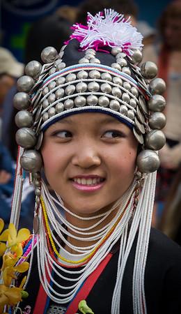 Girls in Traditional Garb, Flower Festival