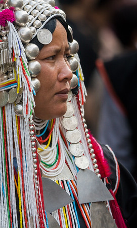 Akha Woman II, Flower Festival