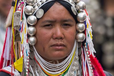 Akha Woman I, Flower Festival