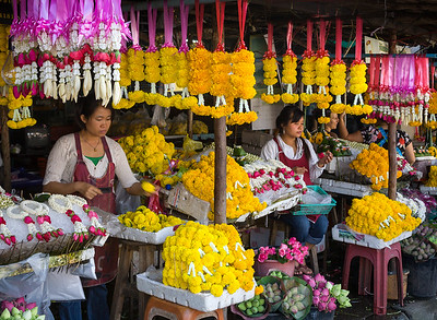 Flower Stalls with Offerings