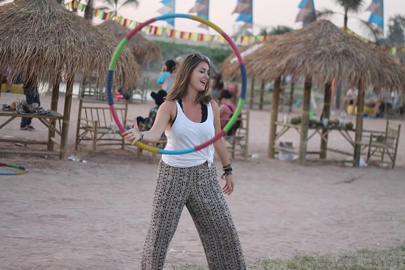 Fran practicing her festival skills. December 2014