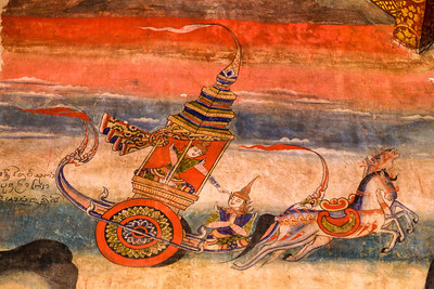 Chariot, Temple Mural, Nan